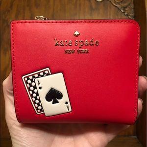 NWT-Kate Spade-Lucky Draw-Sm L-Zip Bifold Wallet
